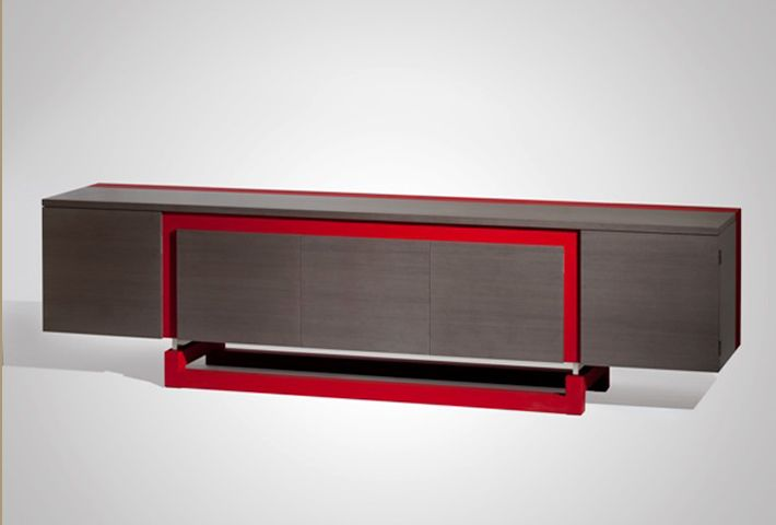 red details | wooden sideboard with a modern red details |www.bocadolobo.com #modernsideboard #sideboardideas