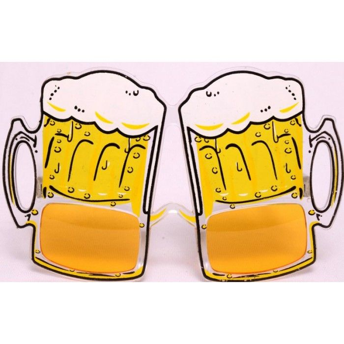 Buy Beer Mug Eye Glasses Online. Try these stylish #beermug shaped #eyeglasses and be in the lime light!! They have a 400 UV protection. One size fits all!! #PartyEyeGlasses #PartyStuff