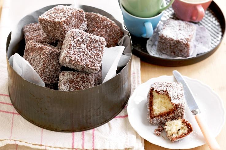 Classic lamingtons http://www.taste.com.au/recipes/28999/classic+lamingtons