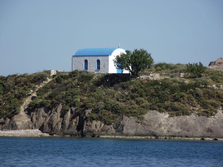 Fisherman's church on island, Kefalos, Greece