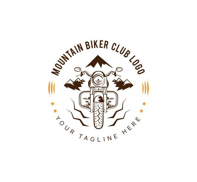 Biker Club Logo Business Card Template The Design Love Biker Club Logo Biker Logo Design Club Logo