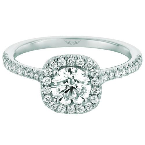 Martin Flyer Halo Engagement Ring