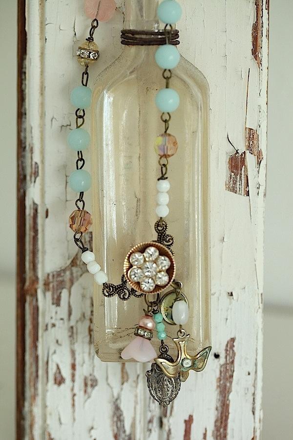 $44  Romantic Elegance Repurposed Vintage Soft Love Necklace