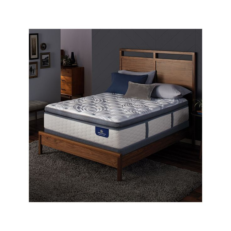 Serta Alima Terrace Super Pillow Top Firm Mattress & Box Spring Set, White