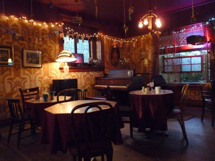 Rimsky-Korsakoffee House: Opened in 1980, this dimly lit cafe attracts people of all kinds. Each of its tables are named after a different composer, and do strange things like disappear into a slit in the wall or shakes when a button in the kitchen is pressed.