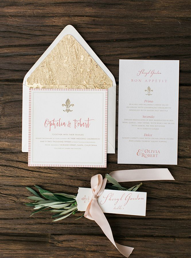wedding invitation tied with ribbon%0A Pink Rustic Chic Ranch Wedding