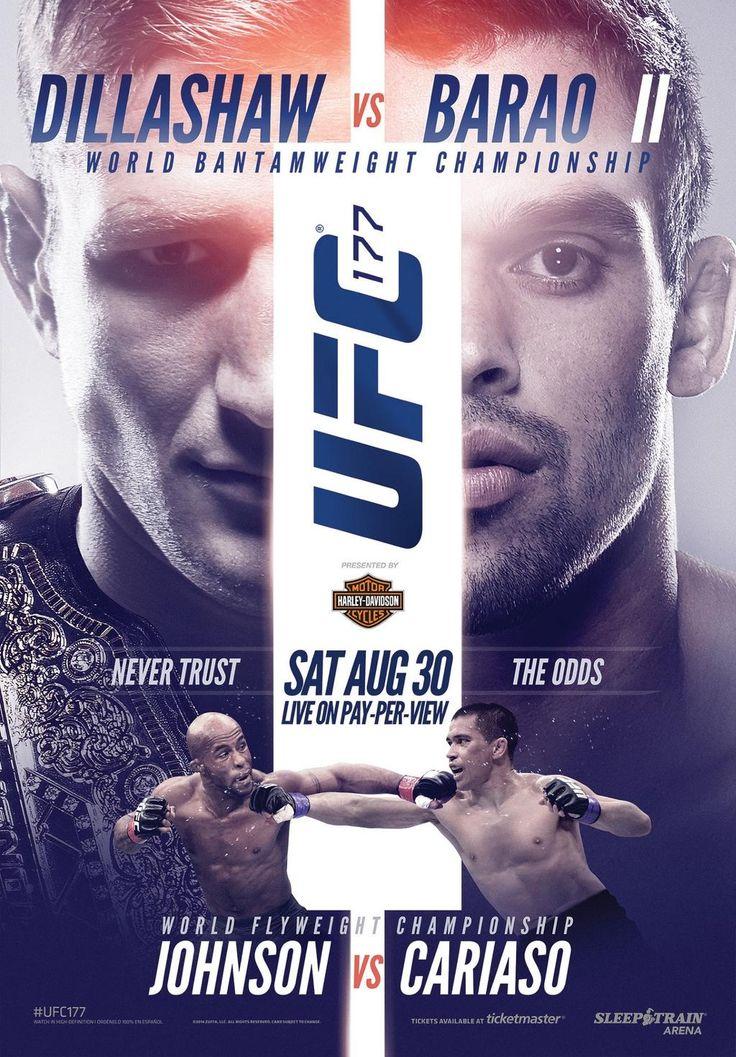 UFC 177 Dillashaw vs. Barão II Event poster, Ufc, Ufc