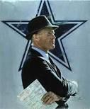 """Tom Landry.  Dallas Cowboys Head Coach from 1960-1988. Landry was a defensive coordinator for the New York Giants from 1954-1959.   My favorite quote from Mr. Landry is...""""Setting a goal is not the main thing. It is deciding how you will go about achieving it and staying with that plan"""".  Tom Landry achieved great things during his tenure as the Dallas Cowboys head coach.   Landry passed away in 2000. Thank you Mr. Landry for your love of the game and for your love of the """"Dallas Cowboys""""!"""