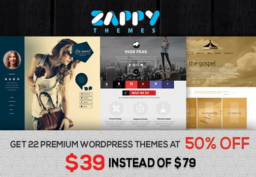 A huge shoutout to all the web designers and web developers out there! We've partnered with the guys from Zappy Themes in order to bring you one of the best deals in the world of WordPress!