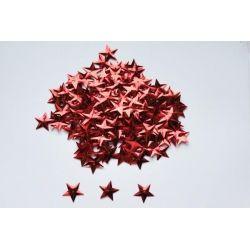 Cekiny gwiazdki 5g kolory-Czerwone Gwiazdki-9203