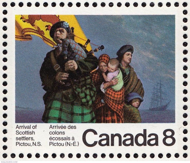 8¢ Arrival of Scottish Settlers, Pictou, N.S. 1973, 1970-1979 - Canada - Stamp - 4120