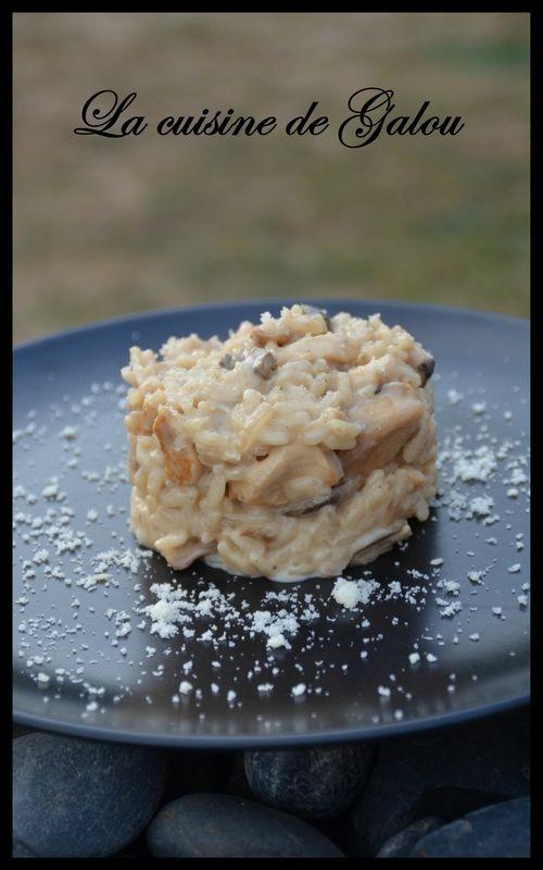 RISOTTO AU POULET ET AUX CHAMPIGNONS - La cuisine de Galou (avec images)   Risotto poulet ...