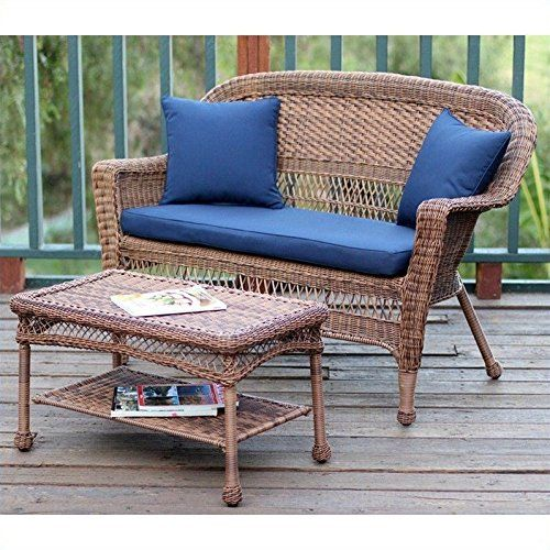 Cheap Jeco Wicker Patio Love Seat and Coffee Table Set in Honey with Blue Cushion https://swivelreclinerchairreview.info/cheap-jeco-wicker-patio-love-seat-and-coffee-table-set-in-honey-with-blue-cushion/