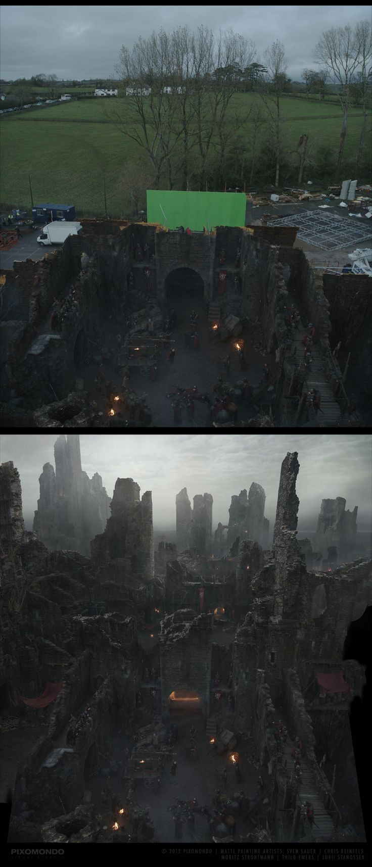 Game of Thrones Matte Painting | Abduzeedo Design Inspiration