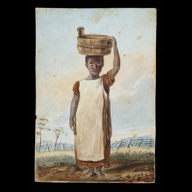 Enslaved girl, ca. 1830.  By Mary Anna Randolph Custis (Lee).