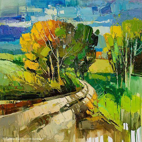 Iosif Derecichei, 'That Old Road', 36'' x 36'' | Galerie d'art - Au P'tit Bonheur - Art Gallery
