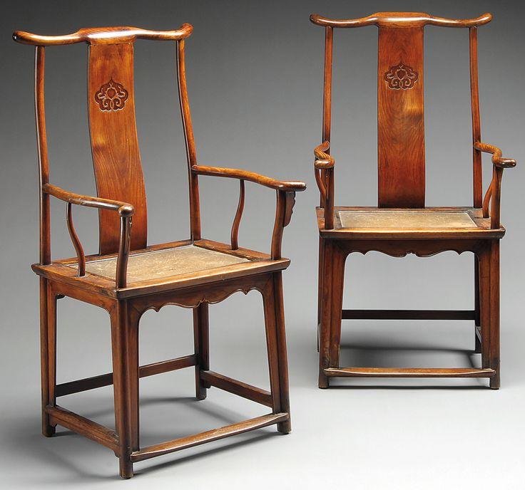 Huanghuali yoke back chairs asian art pinterest