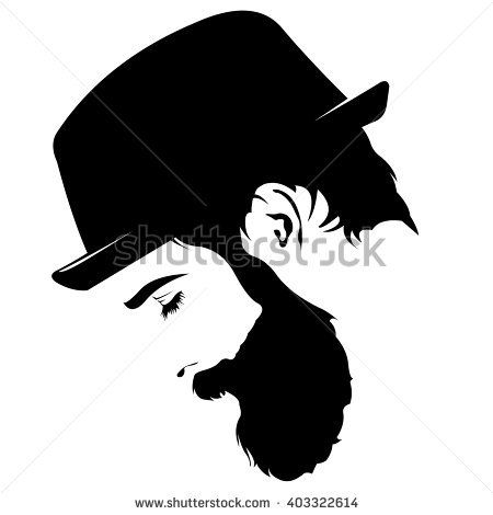 Image result for bald man beard profile silhouette