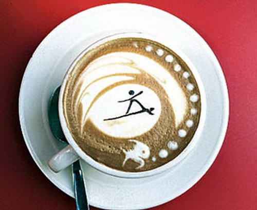 Coffee Surfing Art