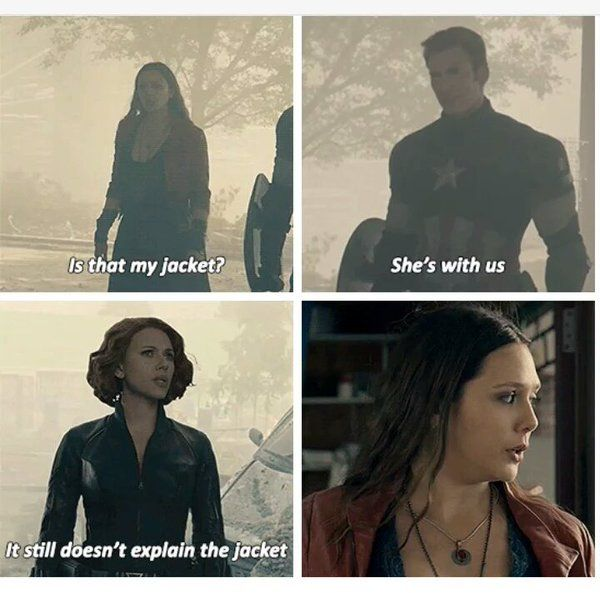 Nat is not impressed with the sharing of her jacket without her consent. (Deleted scene AoU)》》this should have made it to the final cut XD