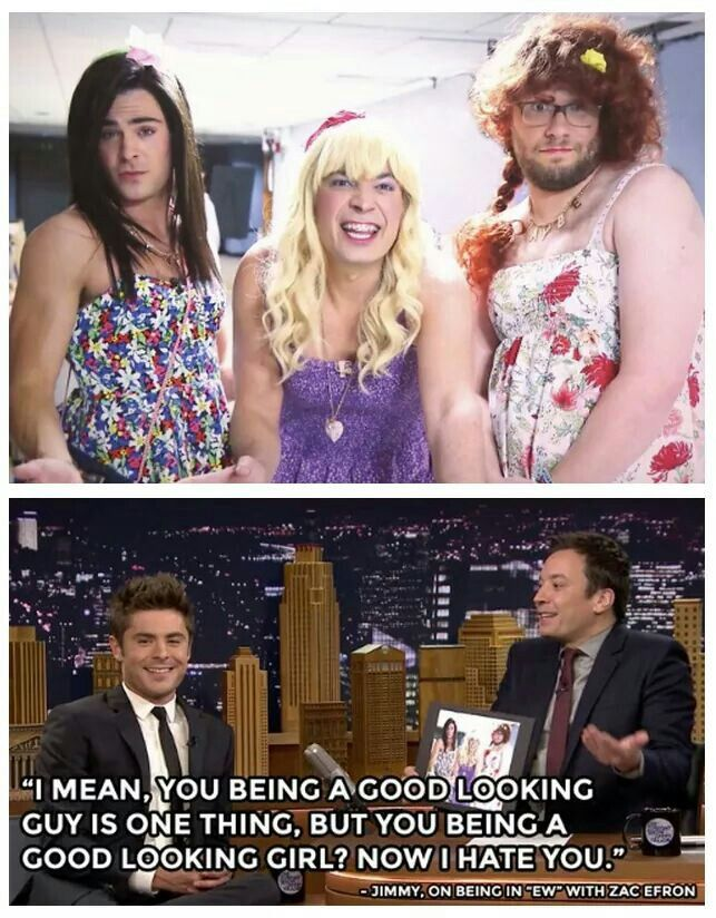 """Zac Efron talks about being in """"EW"""" with Jimmy Fallon and Seth Rogan"""