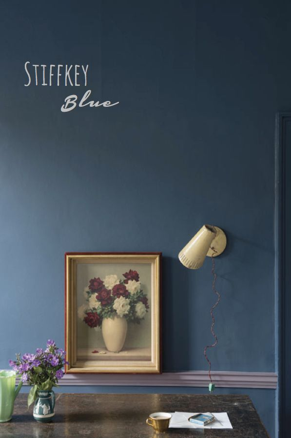 rooms painted in Farrow and Ball Stiffkey blue - Google Search