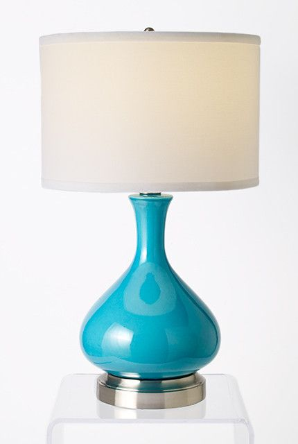 Bartlett Turquoise Cordless Lamp- Made in the USA. Rechargeable, battery operated lamp. This color is perfect for summer!