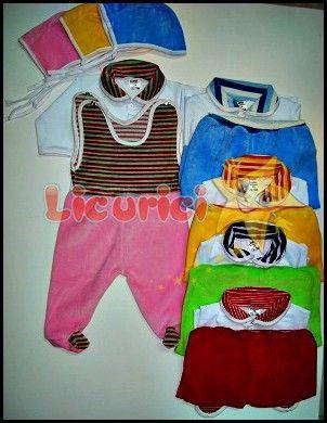 Costumas 3 piese catifea din 3 piese  Costumul este format din: salopeta catifea, bluzita bumbac si caciula Diverse culori: roz, bleu, galben, verde, rosu; Marimi: 26, 28; Ambalare: 8 bucati/ set; Comanda minima: 4 bucati; Pretul nu include taxele de transport.  Pret : 13 Lei