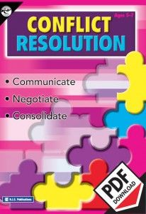 Conflict resolution lower primary  teacher resource. Communicate, negotiate and consolidate. Ebook PDF format.