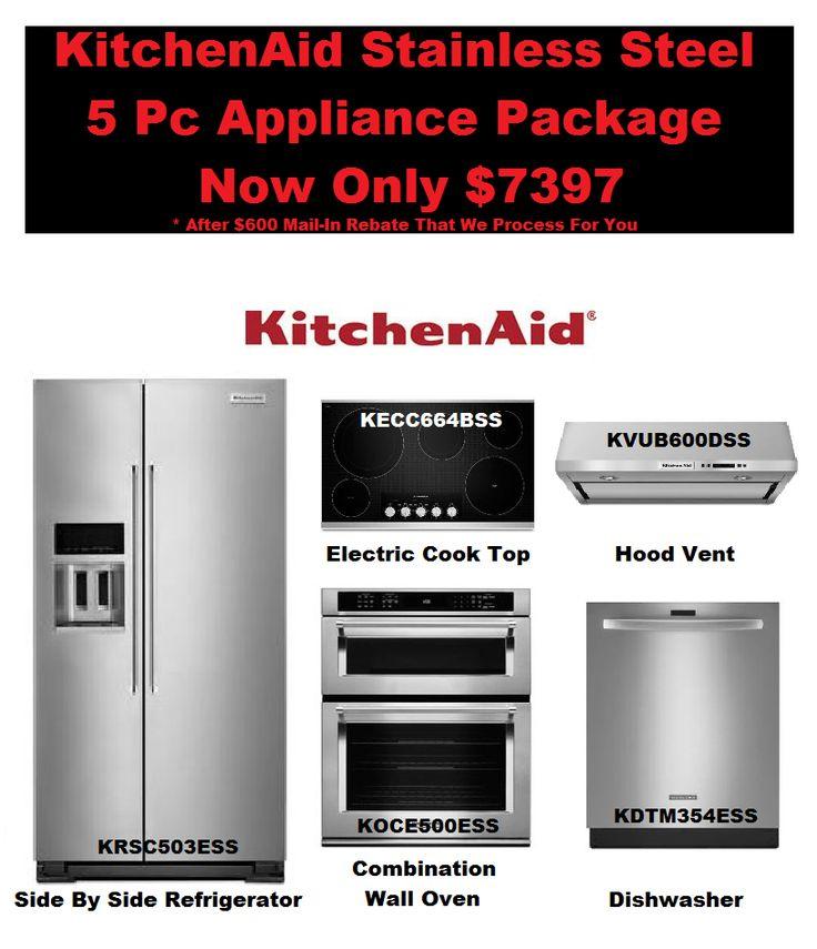 Kitchenaid Complete Kitchen Appliance Package Deal Kitchen Aid