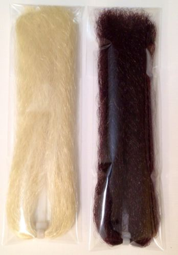 LOT NEW EP/Congo-like Synthetic Fly Tying and Jig Hair fiber 2pks (lot26)