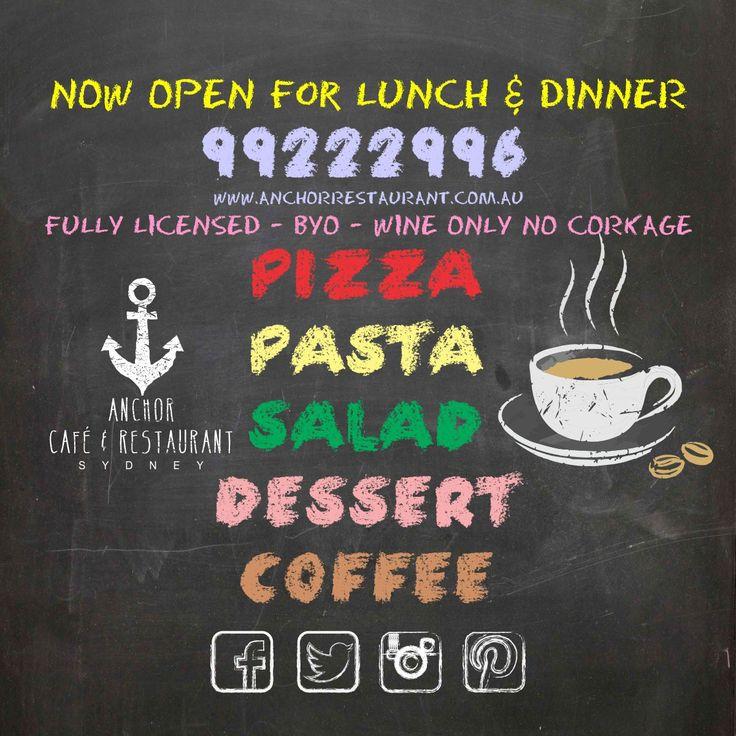 ⚓ ANCHOR Cafe & Restaurant - Taste the difference!  #coffee #tea #chalk #chalkboard #blackboard #anchor #anchorcafe #anchorrestaurant #anchorestaurant #pizza #pasta #salads #salad #desserts #dessert #drinks #wine #beer #wineanddine #redwine #whitewine #milsonspoint #kirribilli #restaurants #cafes #restaurant #dessert #food #desserts #yum #yummy #amazing #instagood #instafood #sweet #chocolate #cake #icecream #dessertporn #delish #foods #delicious #tasty #eat #eating #hungry #foodpics…