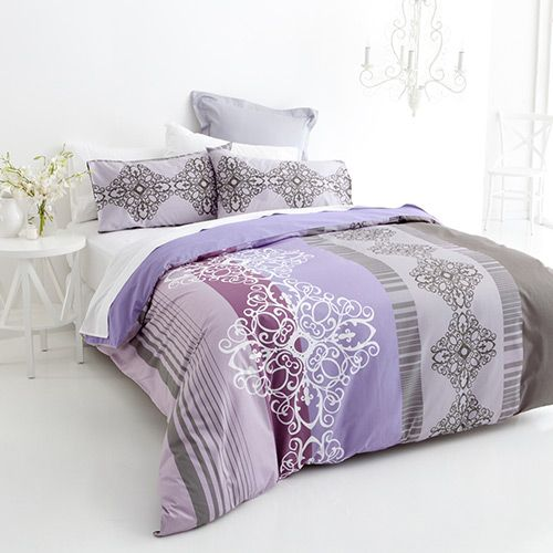 Purple Charm Quilt Cover Set | More Sizes Available by The Easy Bedroom Restyle on THEHOME.COM.AU