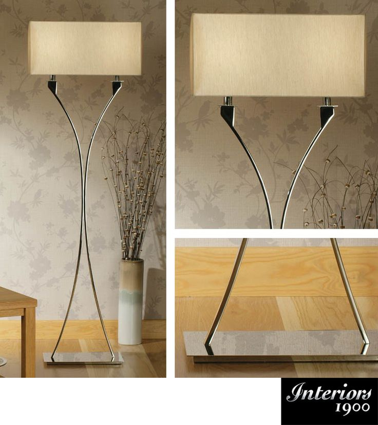 Interiors 1900 'Vienna' 2 Light Floor Lamp *Base Only*, Polished Nickel Plate…