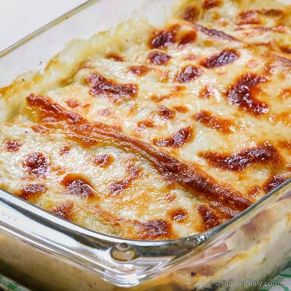 How to Make Italian Cannelloni Baked Pasta with Ricotta, Spinach Bechamel With Step-by-Step Pictures...