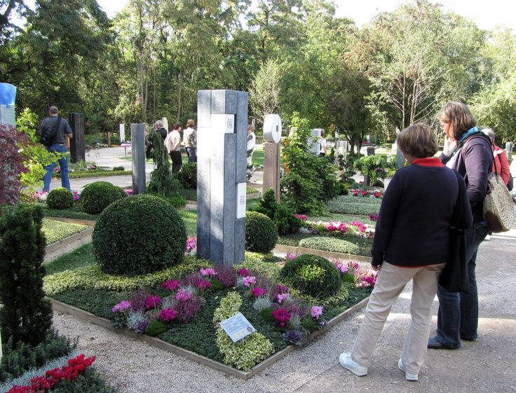 Visitors at the cemetery exhibition, Koblenz National Garden Show