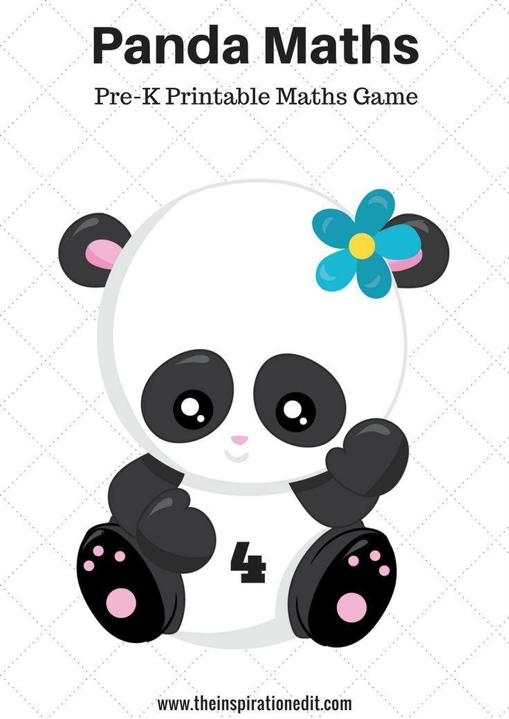 image relating to Preschool Math Games Printable named Obtain your Absolutely free Pre-K Preschool or Homeschool Panda maths