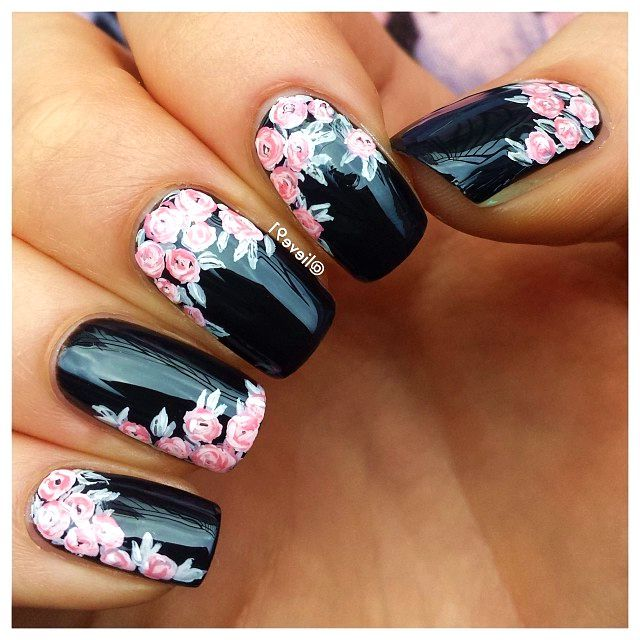 40 Lovely Floral Nail Art Ideas To Bloom Your Mood #floral #nails #dyi #art #vintage #easy #spring