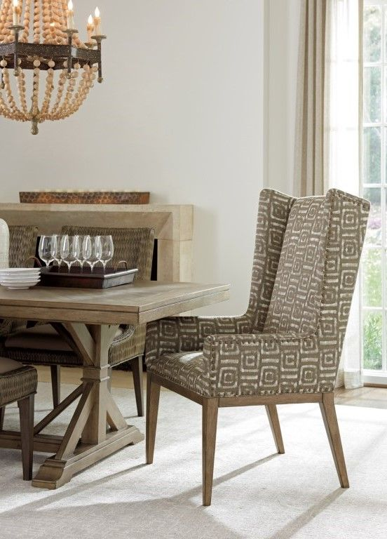Cypress Point Milton Host Chair With Nailhead Studs And Custom Fabric By Tommy Bahama Home At Baers Furniture