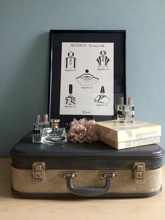 Art Deco parfume bottle by Imimagination on Etsy