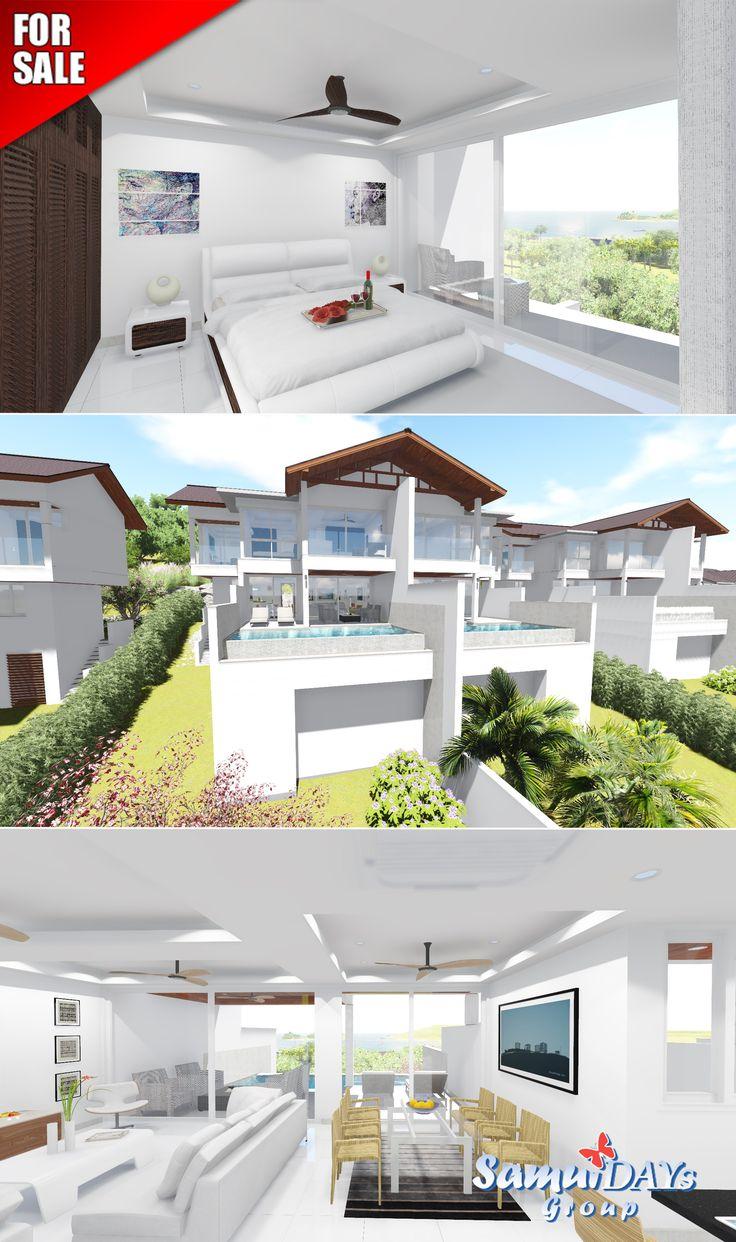 3bedroom Sea & Garden Views Villas For Sale In Samui, Thailand Real Estate