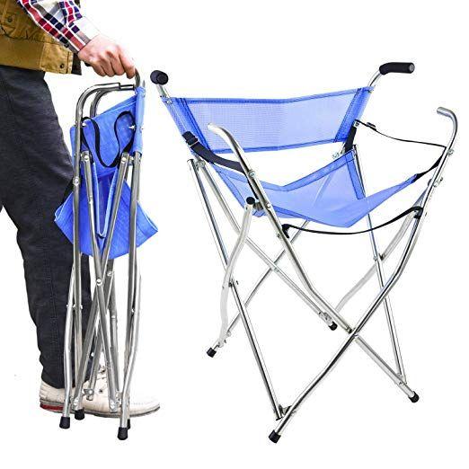 Superb Frehsore Walking Stick Folding Cane Seat For Women Men With Creativecarmelina Interior Chair Design Creativecarmelinacom