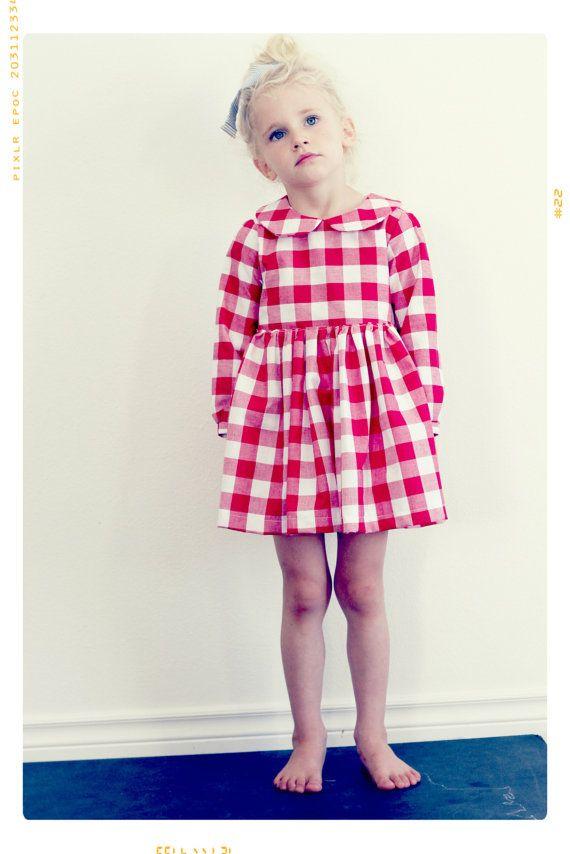 Toddler Peter Pan Collar Dress Pattern PDF Easy Quick Sewing