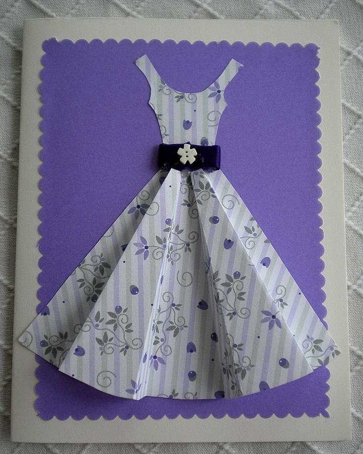 Открытка платье к 8 марта поэтапно
