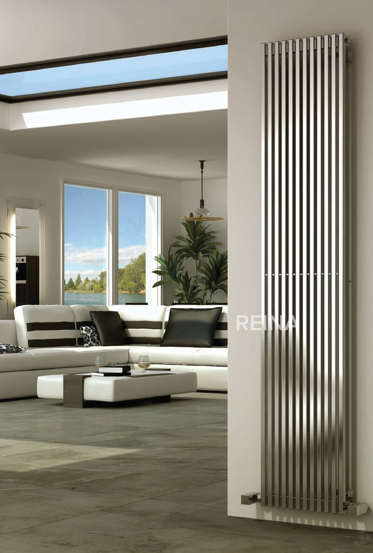 Reina Odin stainless steel radiator with a satin finish, is a sleek vertical square tubed radiator, this will look stylish in any modern lounge or kitchen. It is 1800mm or 2000mm in height and comes with a 25 year guarantee. Prices from £450.45!