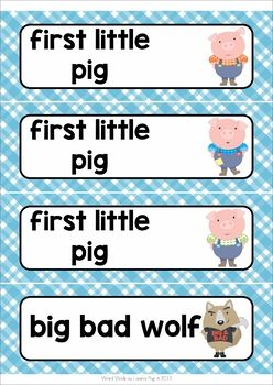 46 best abc images on pinterest preschool word walls writing the three little pigs word wall sciox Gallery