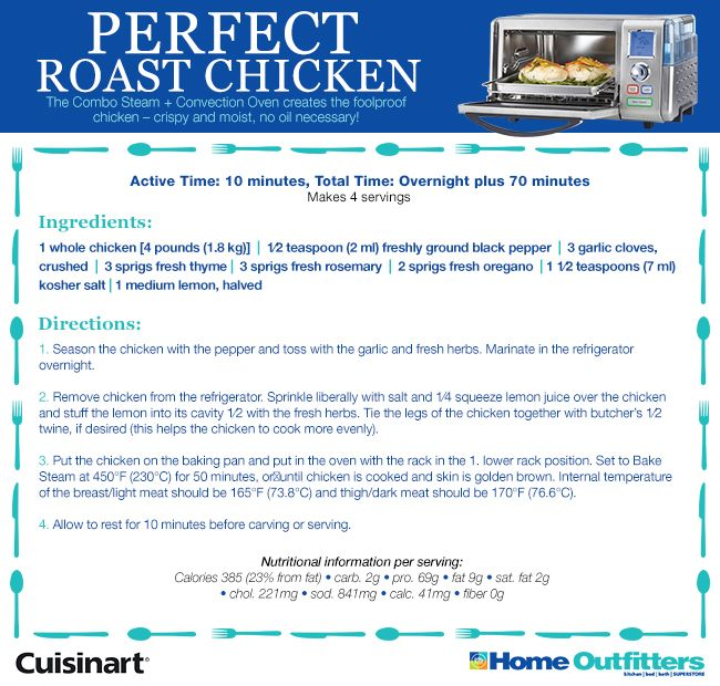 Enter to Win: Cuisinart Daily Giveaways #HOSteamCooking Roast Chicken YUMMM
