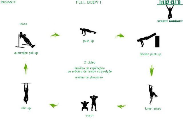 Barz Club Street Workout: Street Workout Iniciante - Full Body 1