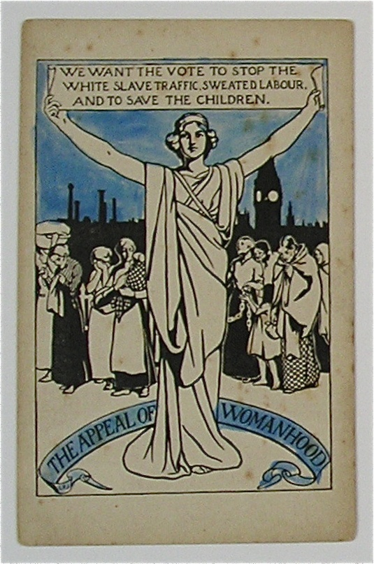 Emmaline Pankhurst's Women's Social and Political Union Postcard