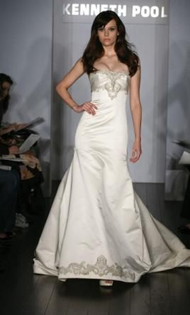 Kenneth Pool wedding dress currently for sale at 90% off retail.